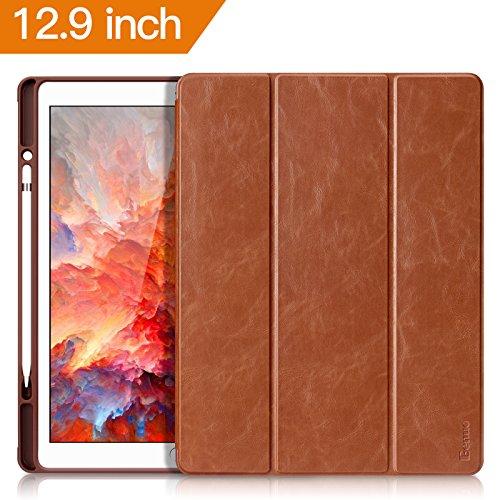 iPad Pro 12.9 Case 2017, Benuo  Folio Flip Leather Case w/Bu