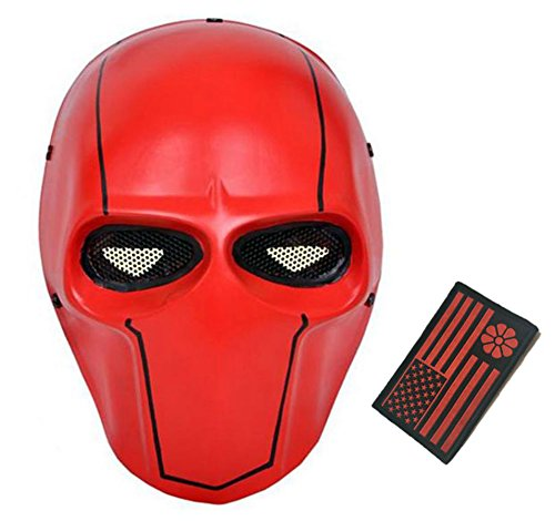 Deathstroke Army of Two Star Wars Fiberglass Full Face Mask (Red 2)