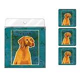 Tree-Free Greetings NC38024 John W. Golden 4-Pack Artful Coaster Set, Vizsla