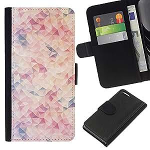 All Phone Most Case / Oferta Especial Cáscara Funda de cuero Monedero Cubierta de proteccion Caso / Wallet Case for Apple Iphone 5C // Pattern Blue Peach Pink