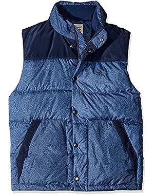 Men's Color Block Down Vest