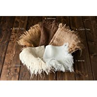 1 Burlap Blanket Newborn Photo Prop Baby Photography Prop Your Choice of 1 Co...