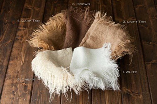 1 Burlap Blanket Newborn Photo Prop Baby Photography Prop Your Choice of 1 Color This is for 1 Burlap Blanket