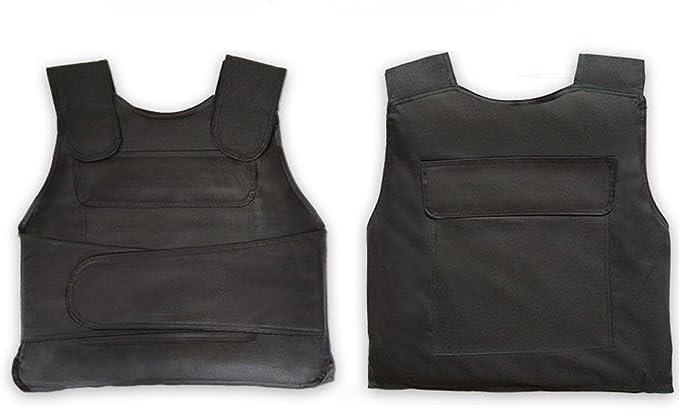 LCSJ Indumenti Resistenti alla Piega Regolabili Giubbotto della Guardia Giurata Donne per Uomini Adulti Armatura Flessibile Protezione Torace Invisibili A Prova di Coltello
