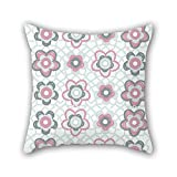 NICEPLW The flower pillow covers of ,20 x 20 inches / 50 by 50 cm decoration,gift for pub,festival,car seat,floor,lounge,boy friend (twice sides)