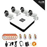 LaView 4 Camera Security System, 8 Channel Compact DVR w/1TB HDD and 4 Silver 700TVL Bullet Surveillance Camera Kit