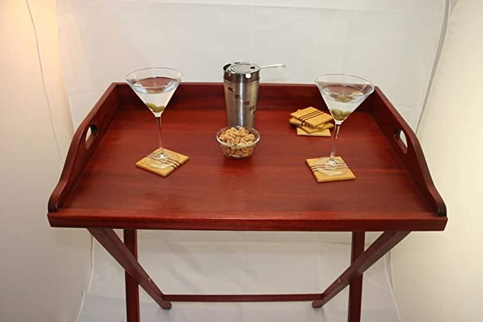 Butler Tray Stand Red Bloodwood Coffee Table With Serving Beautiful Wood