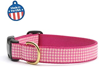 product image for Up Country Pink Gingham Dog Collar