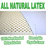 King Natural Latex Pillow with Organic Cotton Outer Covering Set (2-pack)