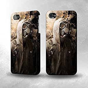 taoyix diy Apple iPhone 4 / 4S Case - The Best 3D Full Wrap iPhone Case - Gas Mask