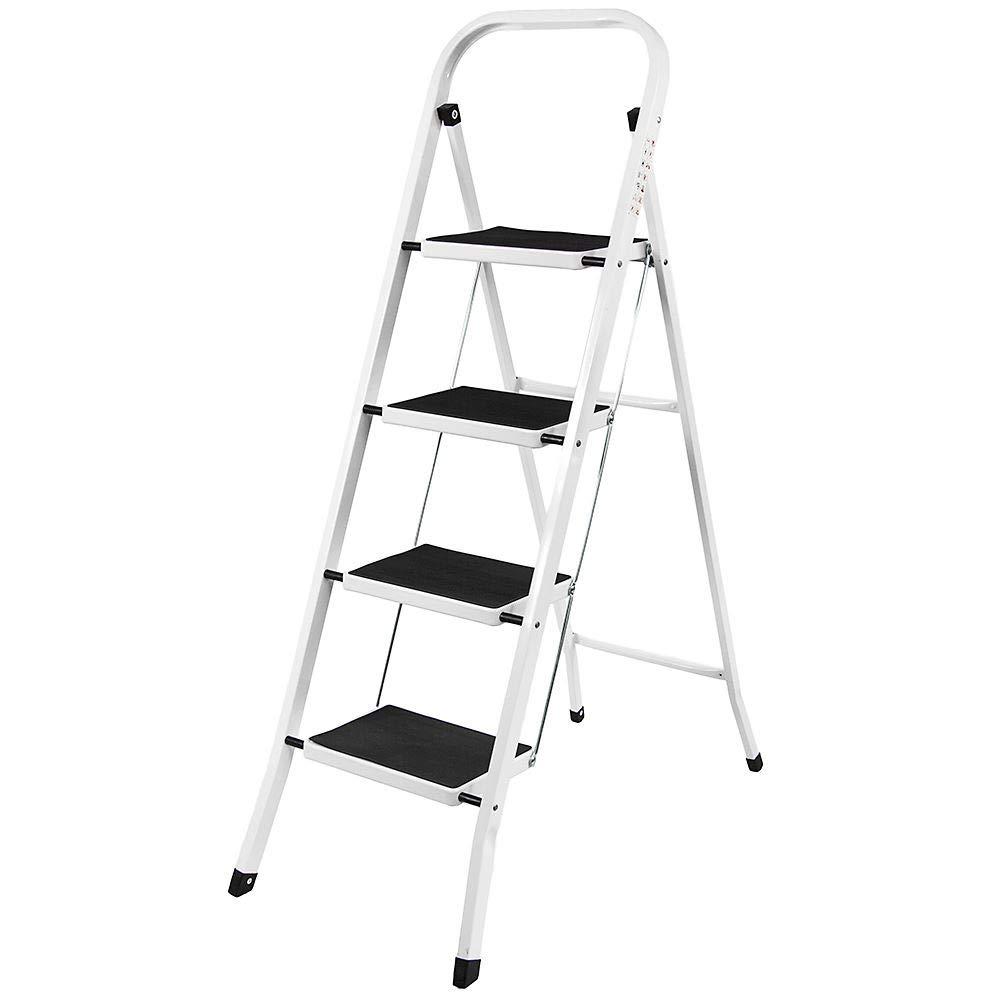 2.6m// 8.4ft Extension Foldable Telescopic Ladder Aluminum Straight Telescoping Ladder Extendable Steps EN 131 Max Load 150kg//330lb