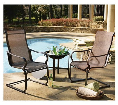 Courtyard Creations STS3V5Z 3-Piece Florence Collection Chat Sling Chair Set - Amazon.com : Courtyard Creations STS3V5Z 3-Piece Florence Collection