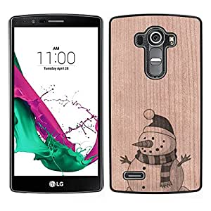 - Snowman Winter Holiday Christmas - - Funda Delgada Cubierta Case Cover de Madera FOR LG G4 H815 H810 F500L BullDog Case