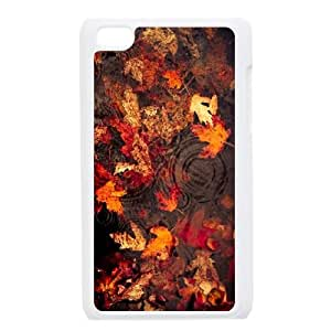 iPod Touch 4 Case White Leaves Floating On The Lake JNR2230771