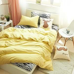 I love zebra yellow zebra print bedding kids bedding teens bedding animal print - Teen cheetah bedding ...