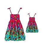 A Set of Beach Mother-daughter Dress Outdoor Casual Dress