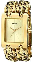 GUESS Women's U12648L1 Brilliance on Links Gold-Tone Bracelet Watch
