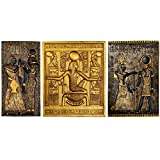 Design Toscano Egyptian Temple Stele Tutankhamen, Isis and Horus Plaque