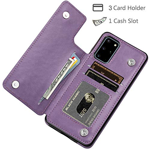 HianDier Wallet Case for Galaxy S20 Plus Slim Protective Case with Credit Card Slot Holder Flip Folio Soft PU Leather…