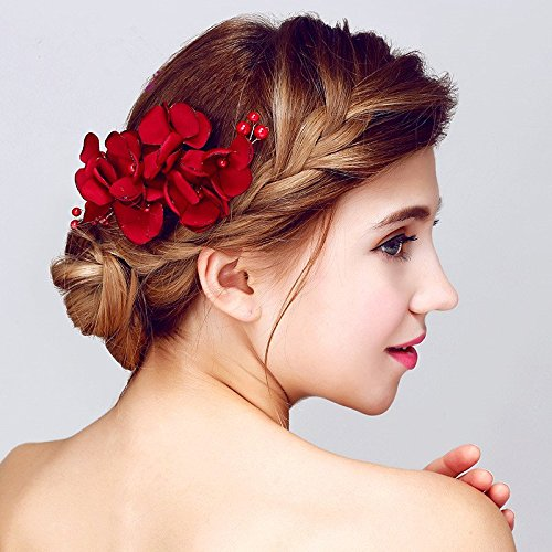 red hair pieces flower november