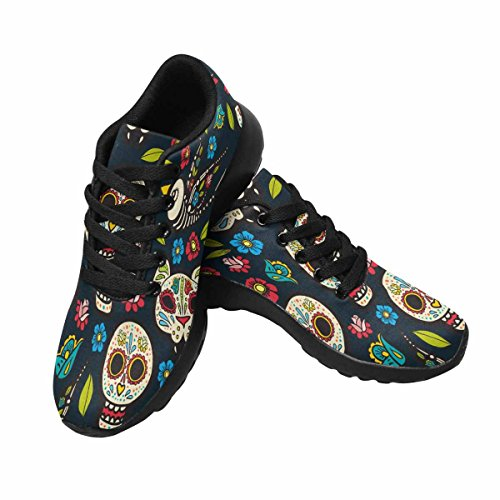 Interestprint Mujeres Trail Running Zapatos Jogging Ligero Deportes Walking Athletic Sneakers Day Of The Dead Multi 1