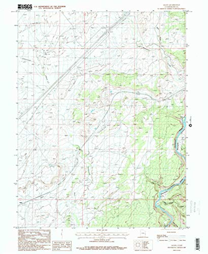 YellowMaps Agate UT topo map, 1:24000 Scale, 7.5 X 7.5 Minute, Historical, 1985, Updated 1986, 26.7 x 21.8 in - Tyvek
