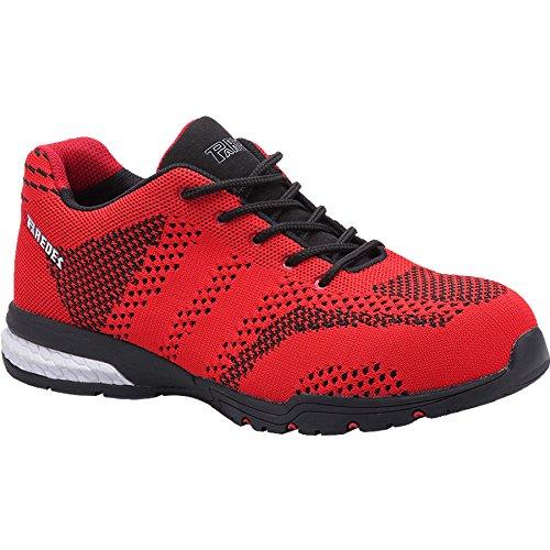 Paredes sp5039Ro40Silverstone–Zapatos de seguridad S1P talla 40ROJO/NEGRO