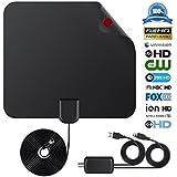 Indoor TV Antenna Digital Television Antennas Long Range HDTV Antenna (black)