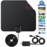 Digital TV Antenna Indoor HDTV Antenna 2018 Upgraded Version 1080P HD 50+ Miles USB Powered