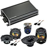 Compatible with Dodge Ram Truck 1984-1993 OEM Speaker Replacement Harmony Audio Bundle R69 R5 & CXA360.4 Amp