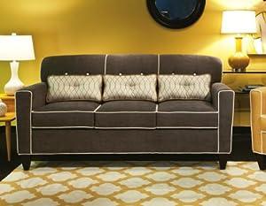 Chelsea Home Furniture Ally Apartment Size Sofa, Heavenly Mocha