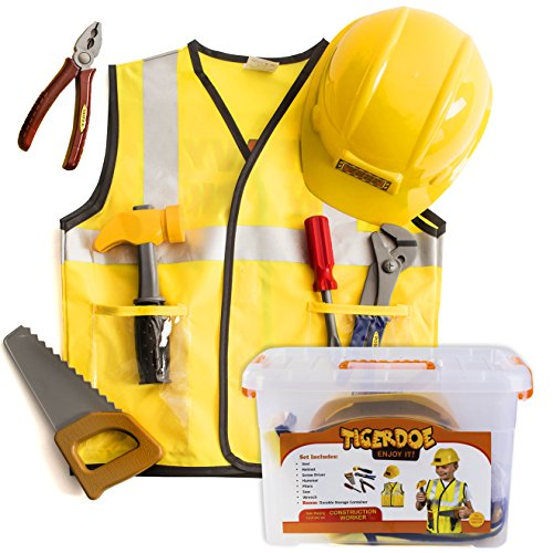 Construction Worker Costume for Kids - Builder Costume - Dress Up Clothes W/ Case by Tigerdoe for $<!--$25.79-->