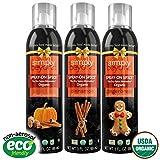 Simply Beyond Organic Spray-On Spice Seasoning - All 3 Fall Spices (Cinnamon, Pumpkin Spice, Gingerbread)