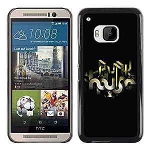 Be Good Phone Accessory // Dura Cáscara cubierta Protectora Caso Carcasa Funda de Protección para HTC One M9 // Abstract