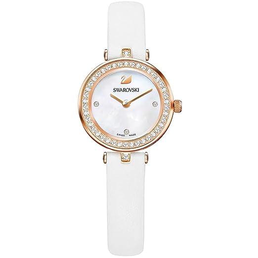 Swarovski - Reloj Mujer 5376651 Aila Dressy Mini - Blanco, Oro rosa: Amazon.es: Relojes