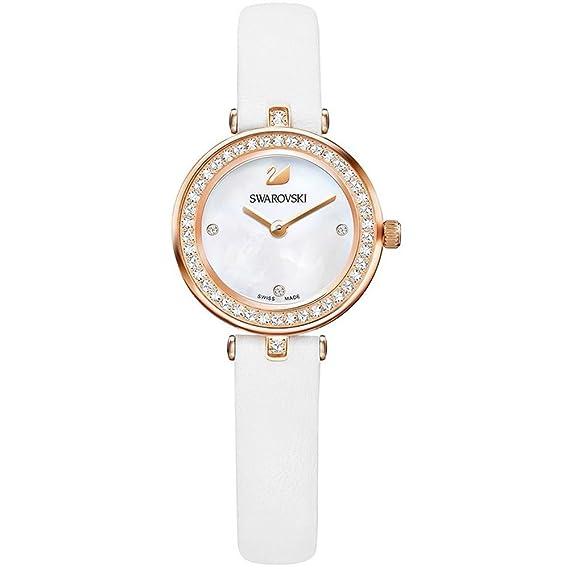 Swarovski - Reloj Mujer 5376651 Aila Dressy Mini - Blanco, Oro rosa