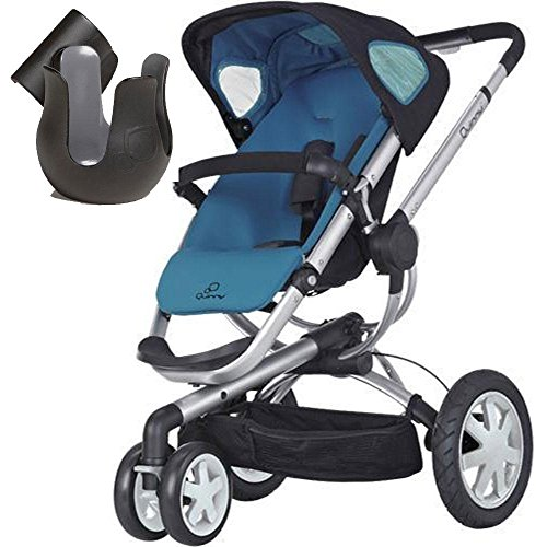 Quinny CV155BFWK Buzz 3 Stroller - Blue Scratch w Cup Holder