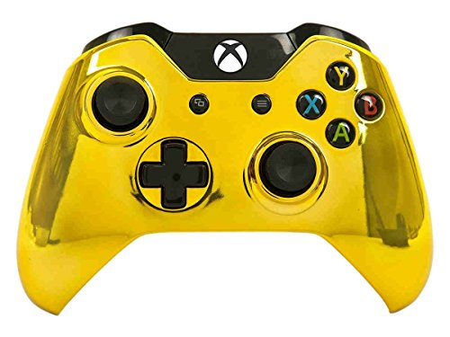 Mod Freakz Xbox One Controller Shell/Buttons Chrome Gold (NO 3.5 Port)