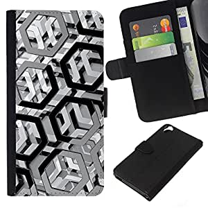 EJOY---La carpeta del tirón la caja de cuero de alta calidad de la PU Caso protector / HTC Desire 820 / --Modelo del metal