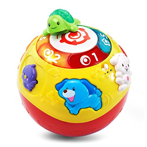 VTech Wiggle & Crawl Ball Toy (Sound Ball Baby Toy)