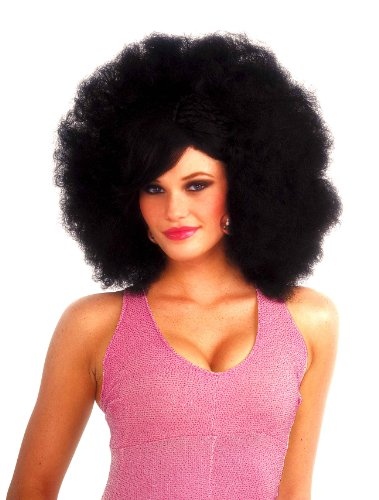 Forum Novelties Women's Funky Pop Afro Costume Wig, Black, One Size