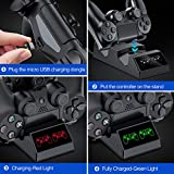 PS4 Controller Charger, PS4 Charging Station with