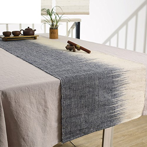 Chinese table flag/simple tea ceremony flag-gray 45x110cm(18x43inch) ()