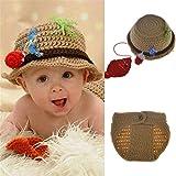 Best Seller Baby Photography Prop Crochet Fishing Fisherman & Fish Hat Diaper Shoes