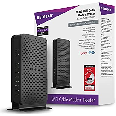 NETGEAR N600 Wi-Fi DOCSIS 3.0 Cable Modem Router (C3700)