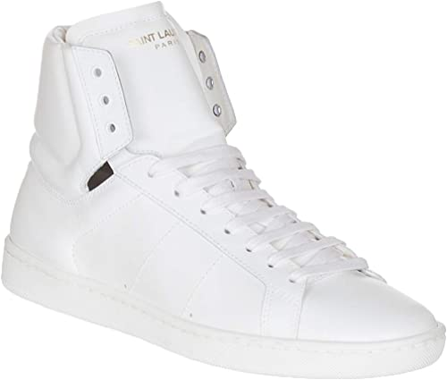 | Saint Laurent Women's White Leather High Top