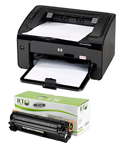 RT P1102W Check Printer Package; LaserJet P1102W Printer and 1 RT CE285A 85A Compatible MICR Toner Cartridge 1600 Yield