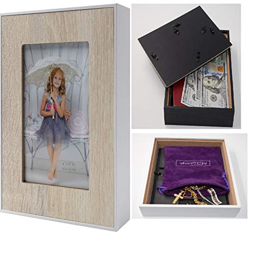 - Diversion Safe - Stash Can - Picture Frame Can Safes, Storage for Money, Jewelry or Herbs, Money Safe - Secret Safe, Secret Container with Free Pouch