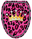 Toilet Tattoos TT-1108-O Diva Princess Decorative Applique For Toilet Lid, Elongated