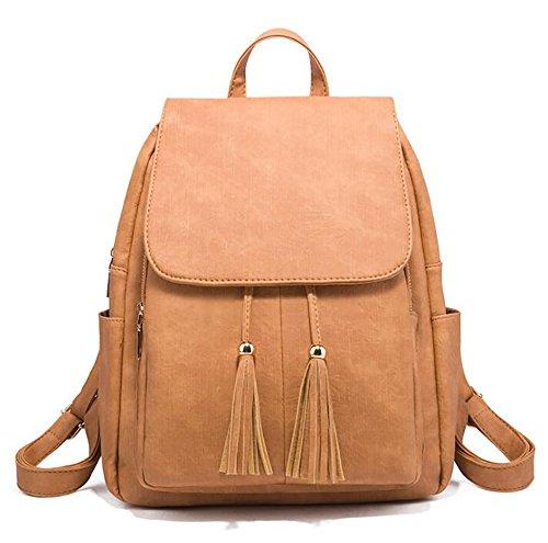 di donne modo borsa delle zaino molle 27 PU di borsa cuoio 30cm La 13 multifunzionale casuale EwqR8IcWP